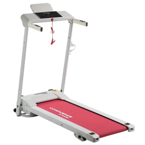 Confidence Ultra Pro Treadmill Electric Motorised Running Machine White/Pink