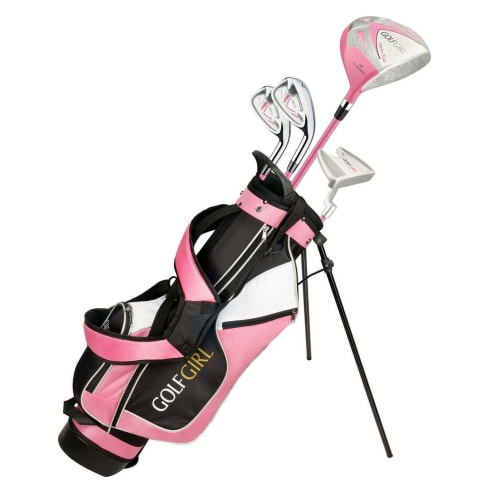 Golf Girl Junior Girls Golf Set V3 with Pink Clubs and Bag, Right Hand