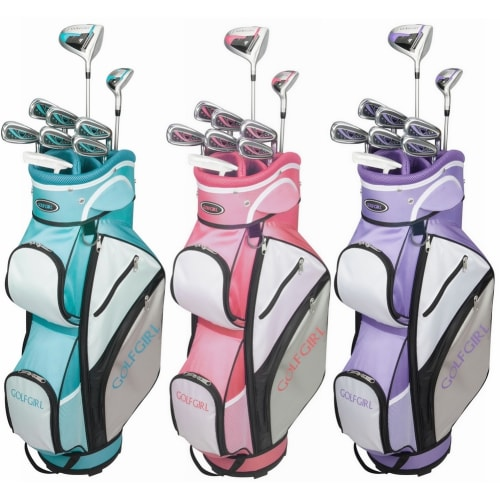 GolfGirl FWS3 Ladies Petite Golf Clubs Set with Cart Bag, All Graphite, Right Hand
