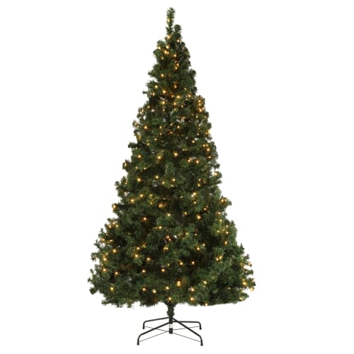 OPEN BOX Homegear Deluxe 7.5ft Artificial Christmas Tree with Metal Stand - Prelit with 550 LED Lights