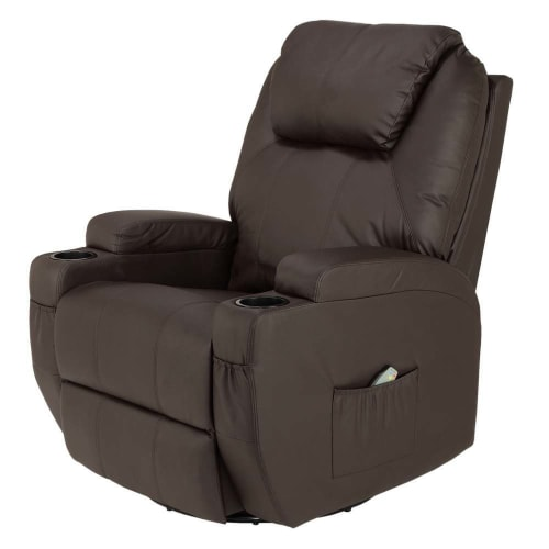 EX-DEMO Homegear Recliner Chair with 8 Point Electric Massage and Heat - Brown