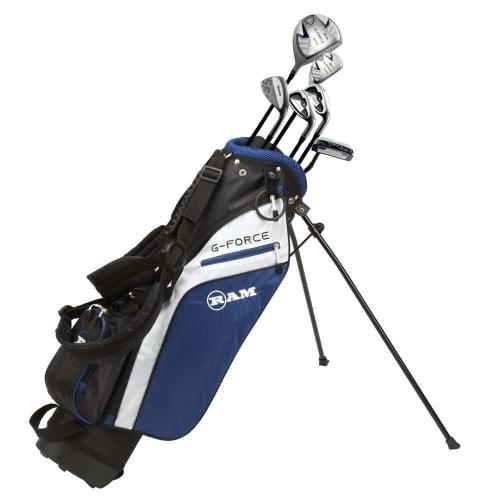 Ram Golf Junior G-Force Boys Golf Clubs Set with Bag - Lefty - Age 10-12