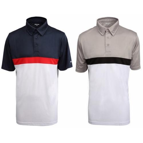 Ram Golf Ultimate Panel Golf Polo Shirt 2 Pack