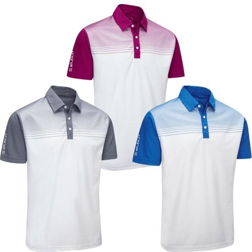 Stuburt Endurance Faded Stripe Polo Shirt 3 Pack