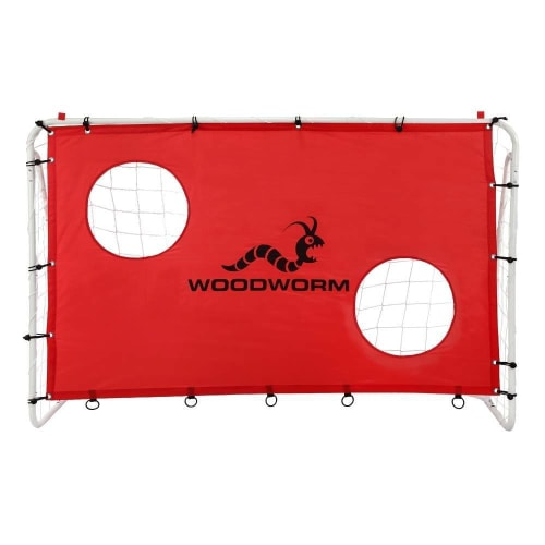 Woodworm Metal Soccer Goal - 6ft x 4ft Soccer Goal with Target Nets