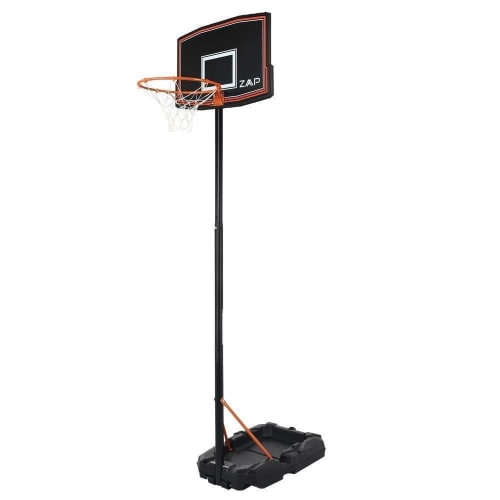 OPEN BOX ZAAP Junior Youth Basketball Hoop Outdoor System - Adjustable Height 5.4FT- 7.2FT - Portable with Wheels