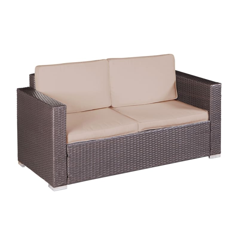 Palm Springs Modern 4 Piece Furniture Wicker Patio Set #1