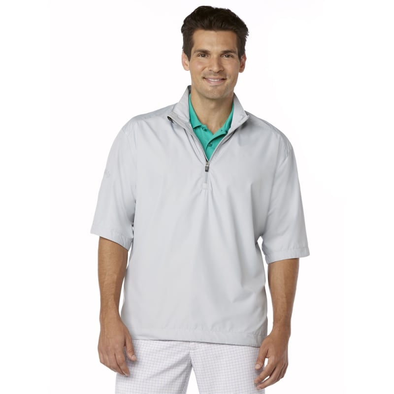 Callaway Gust Short Sleeve 1/4 Zip WindShirt Grey