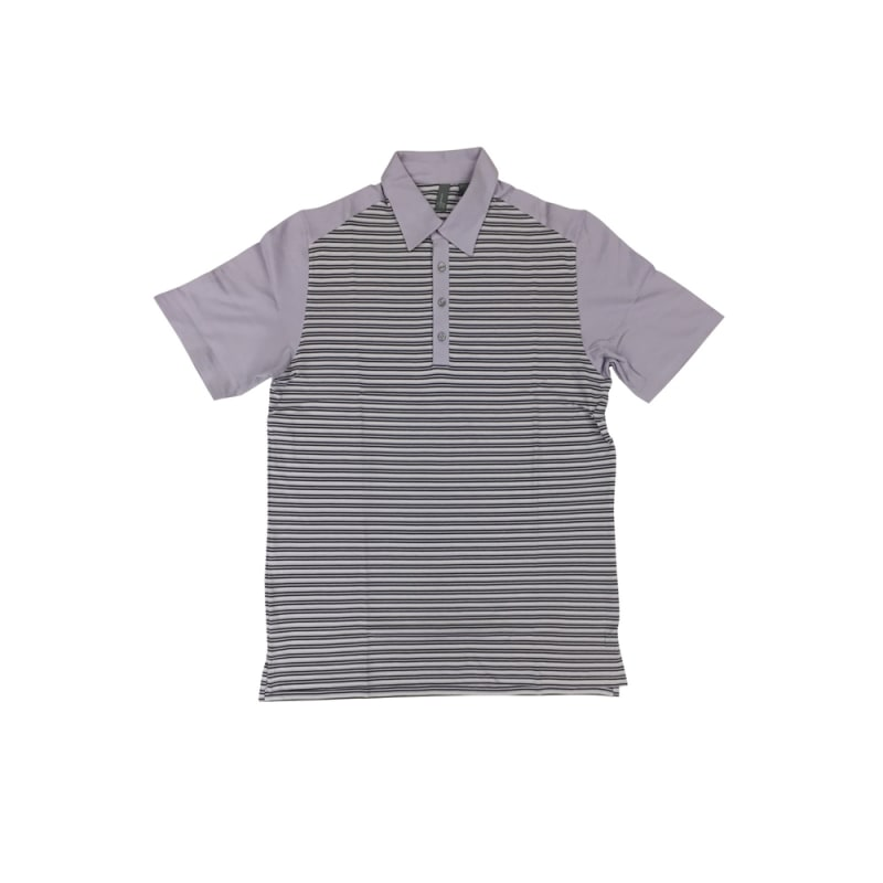 Ashworth Golf Mens Lilac Stripe Polo Shirt