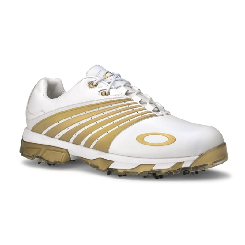 Oakley Full Auto Tour Golf Shoe - White/Gold