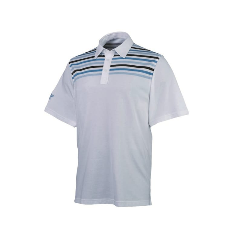 Ashworth Mens Interlock Print Polo