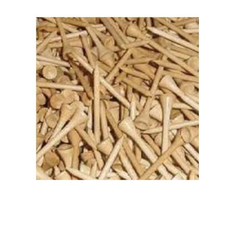 500 Wooden Golf Tees - 2 1/8""