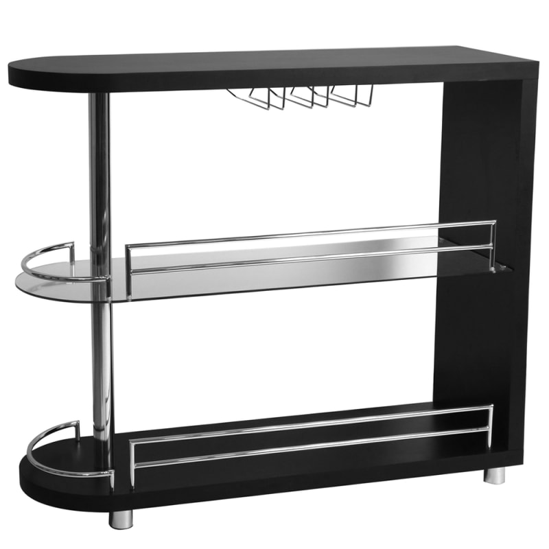 Homegear Deluxe Kitchen Bar Table - Black #1
