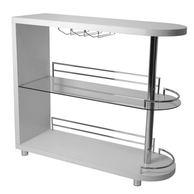 Homegear Deluxe Kitchen Bar Table - White #2