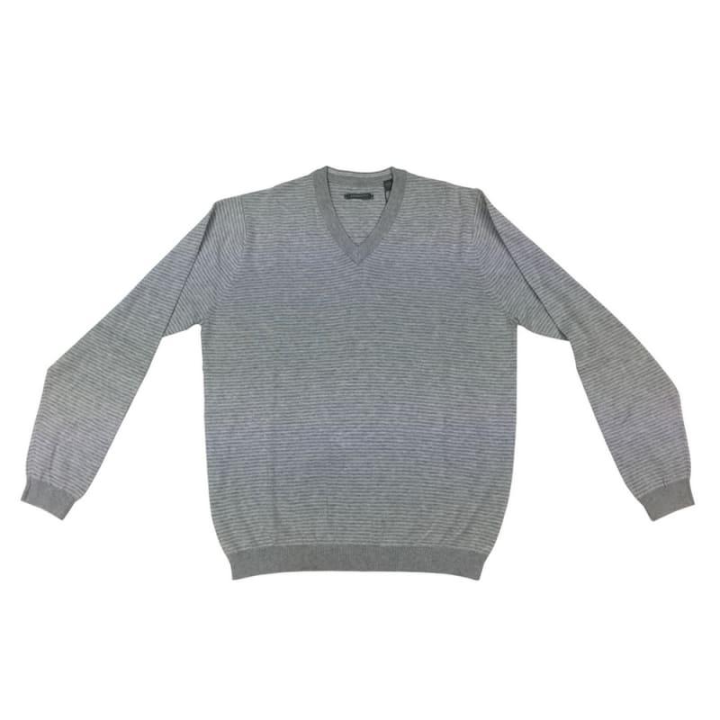Ashworth Mens Stripe Pima Cotton Sweater
