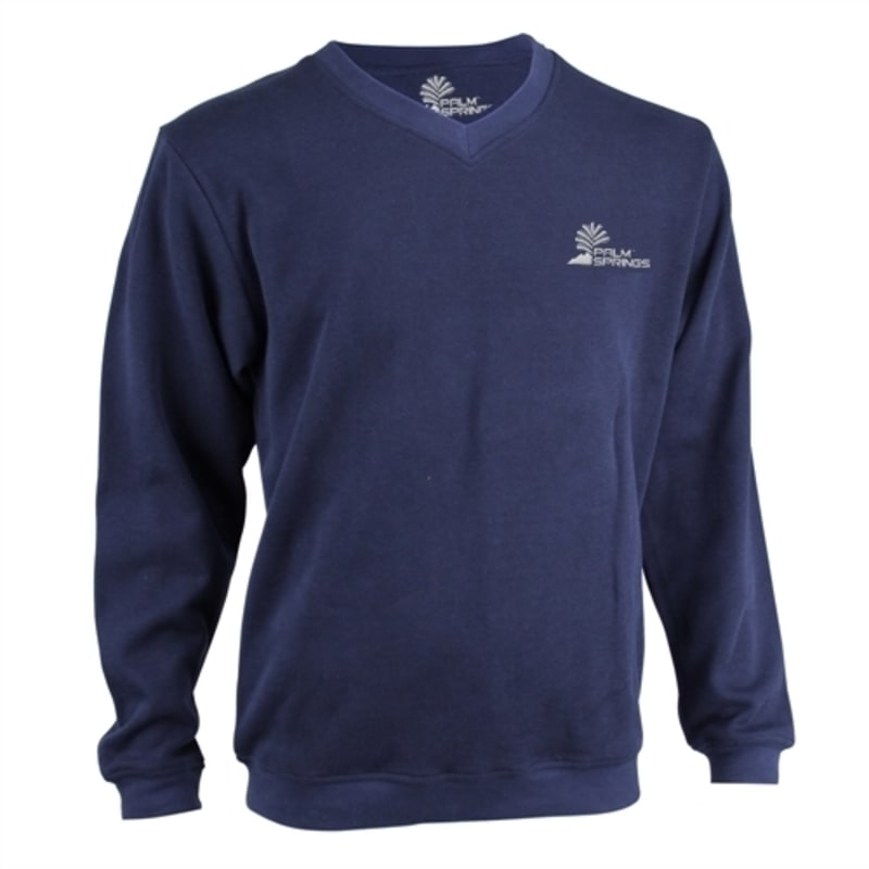 Palm Springs Long Sleeve Golf Sweater - Navy