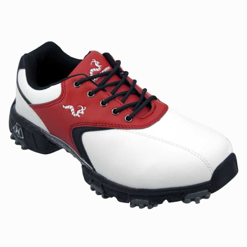 Woodworm Golf Junior Golf Shoes White / Red