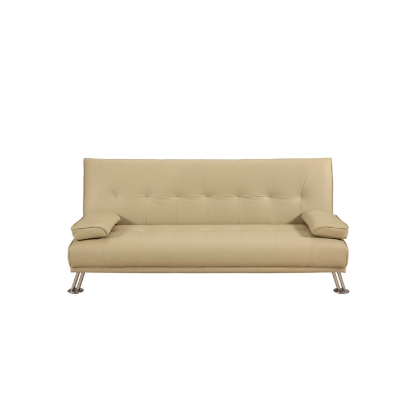 Homegear Faux Leather Deluxe Sofa Bed Cream