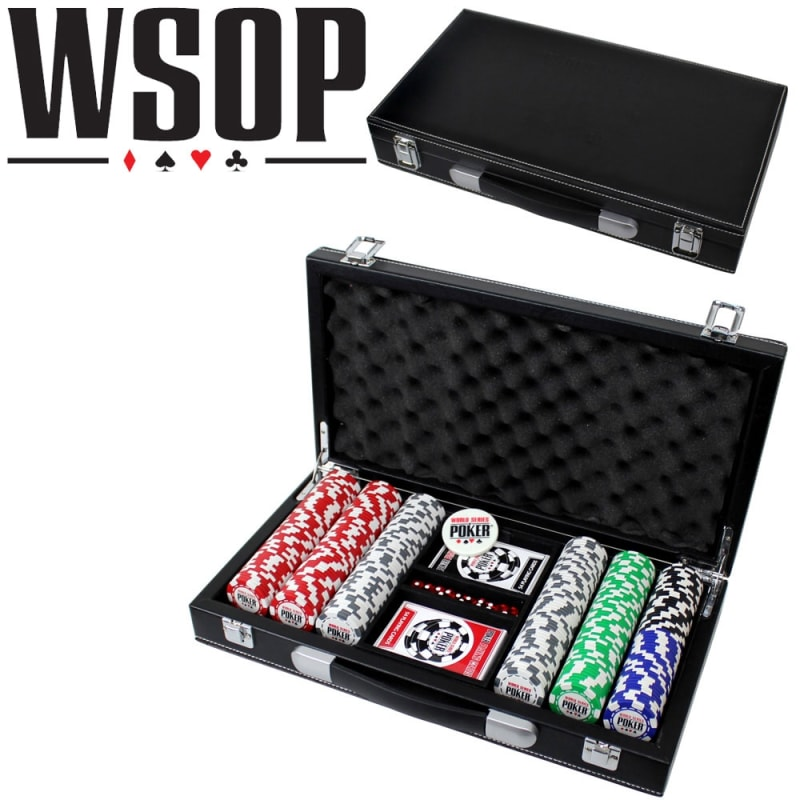 World Series Of Poker 300pc Set with Leather Case