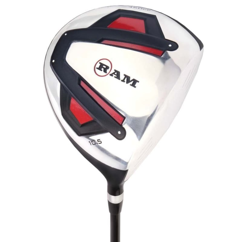 Ram Golf Accubar 12pc Golf Clubs Set - Graphite Shafted Woods, Steel Shafted Irons - Mens Right Hand - Stiff Flex #