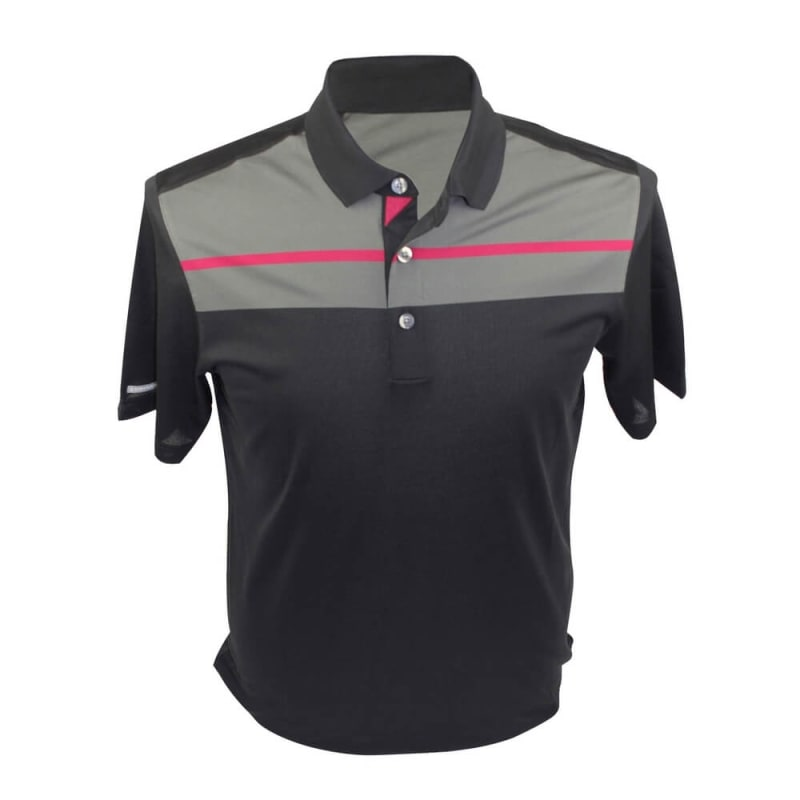 AS Performance Chest Print Polo Dark Grey