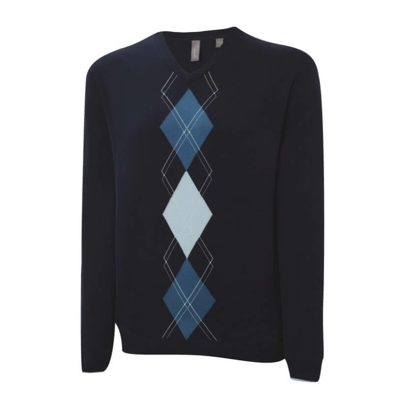 Ashworth Mens Argyle Placement Sweater Navy