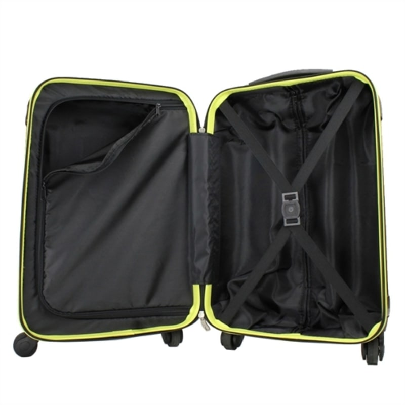 OPEN BOX Swiss Case 4W 2pc Suitcase Set Black / Yellow #3