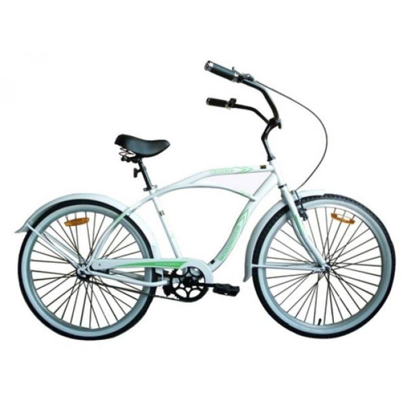 Woodworm Mens Cruiser Bike - White/Green