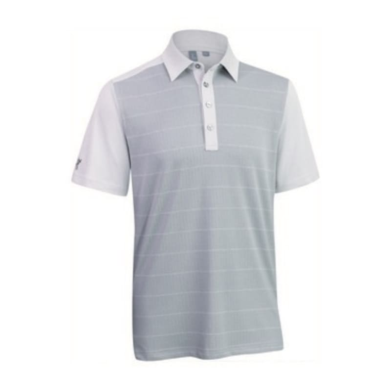 Ashworth Mens Front Panel Print Polo