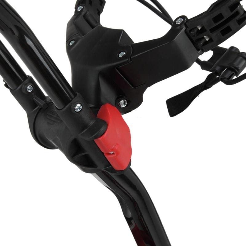 Caddymatic Golf 360° SwivelEase 3 Wheel Folding Golf Cart Black/Red #3