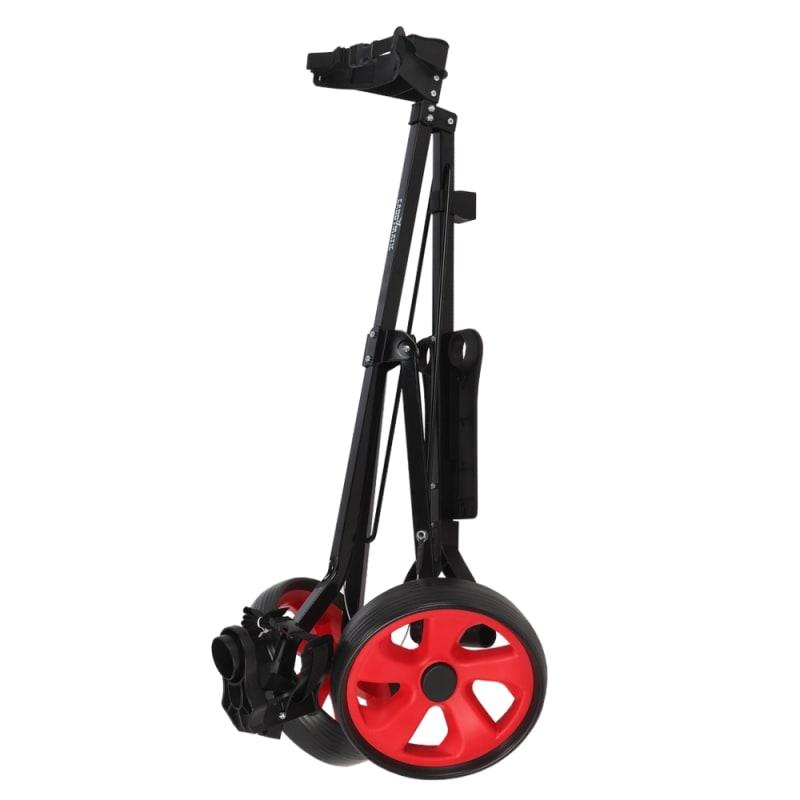 Caddymatic Golf i-Trac 2 Wheel Folding Golf Cart Black/Red #2