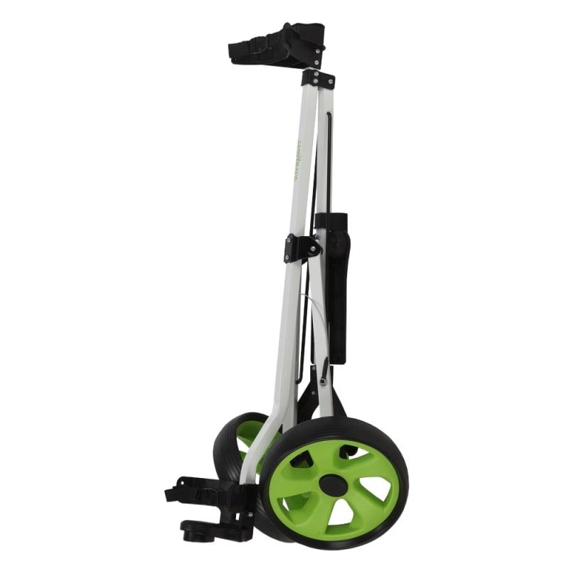 Caddymatic Golf i-Trac 2 Wheel Folding Golf Cart White/Green #2