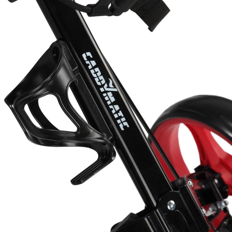 Caddymatic Golf X-TREME 3 Wheel Push/Pull Golf Cart with Seat Black/Red #4