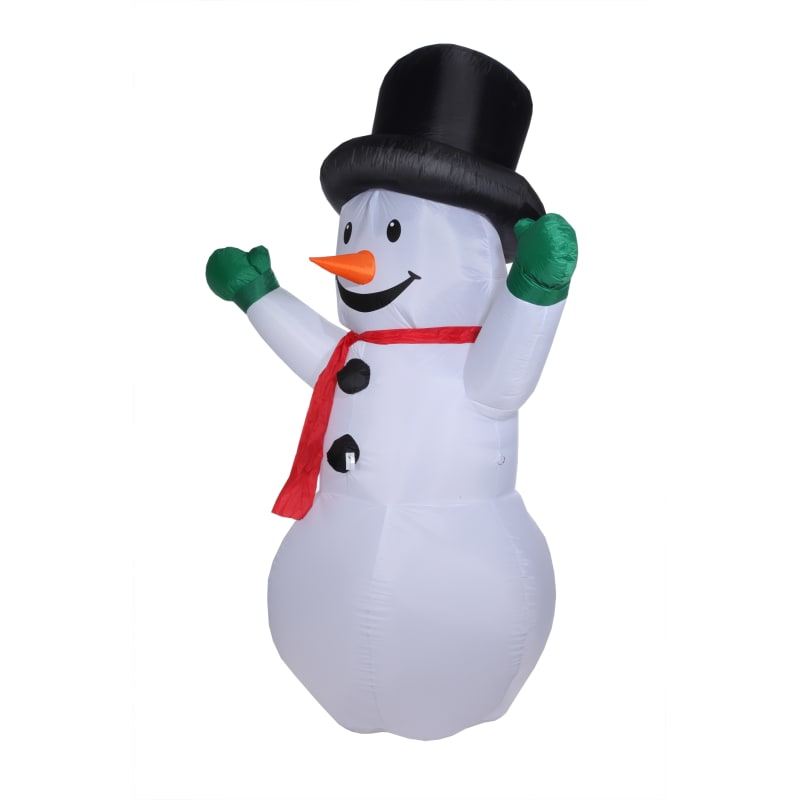 Homegear Christmas 6ft Inflatable Snowman For Indoor/Outdoor Use with LED Lights
