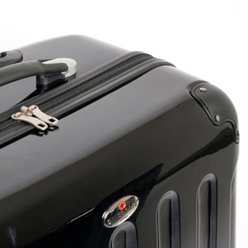 OPEN BOX Swiss Case Black 4 wheel 3 Piece Hardcase Luggage Set #3
