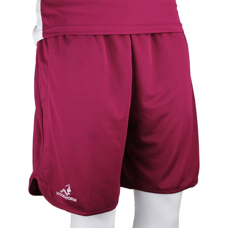 Woodworm Pro Series Shorts Maroon