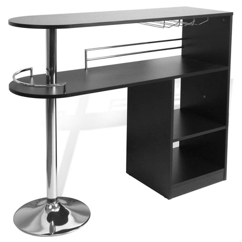 homegear kitchen cocktail bar table  black just 14499