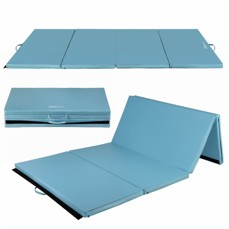 "Confidence 4'x8'x2"" Folding Gym Mat Blue"