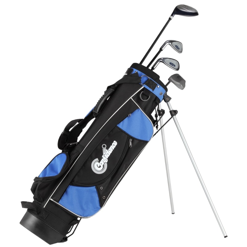 Confidence Golf Graphite Junior Tour Clubs Set with Stand Bag Left Hand