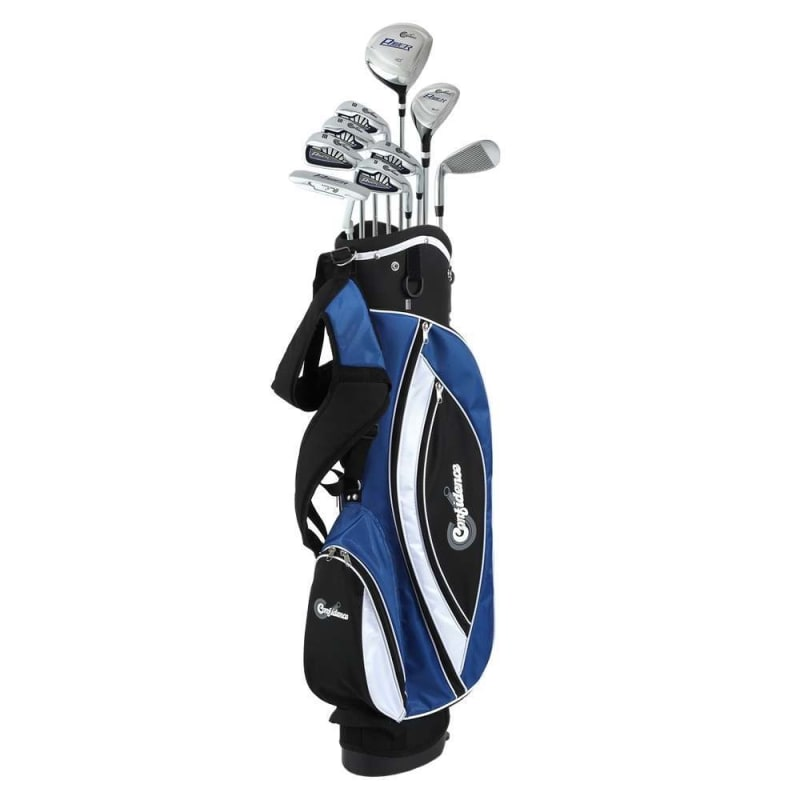 OPEN BOX Confidence Golf Mens Power V3 Club Set and Stand Bag LEFTY