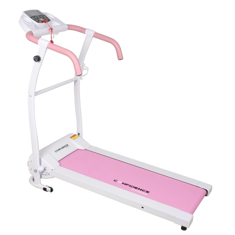 Confidence Fitness TP-1 Electric Treadmill Folding Motorized Running Machine - Pink