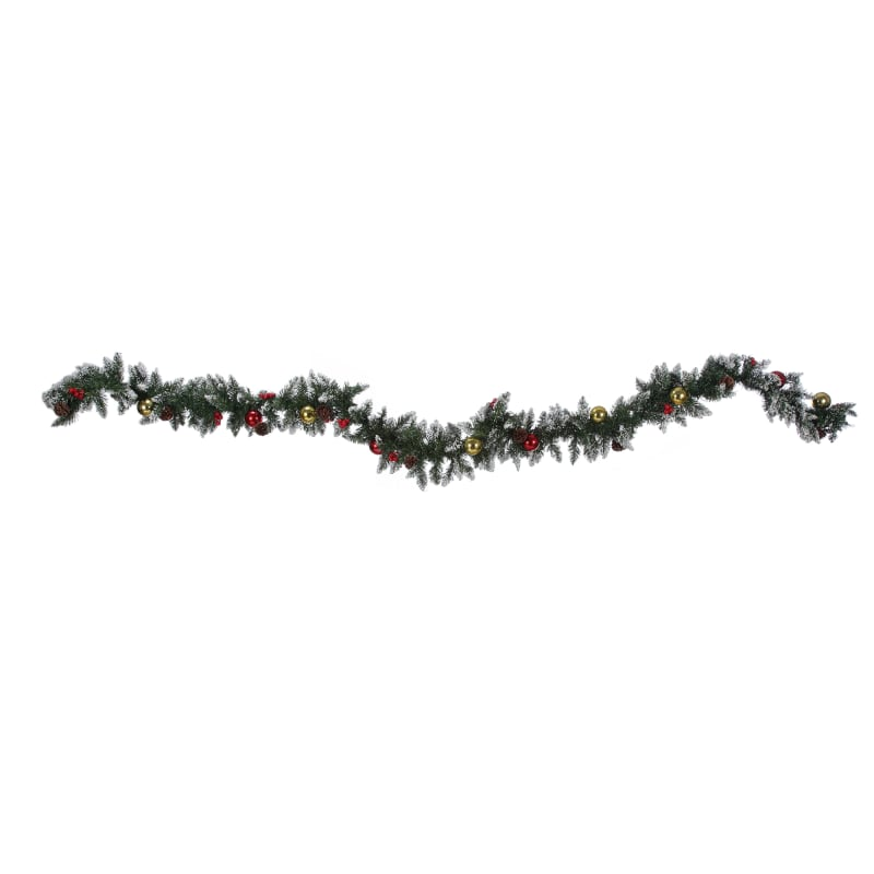 Homegear 9ft Decorated Christmas Garland #2