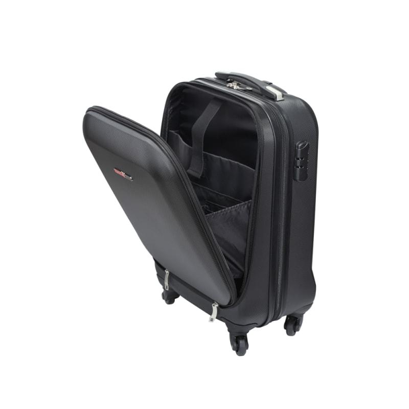 "OPEN BOX Swiss Case 20"" ABS 4W Suitcase Zip Pocket #4"