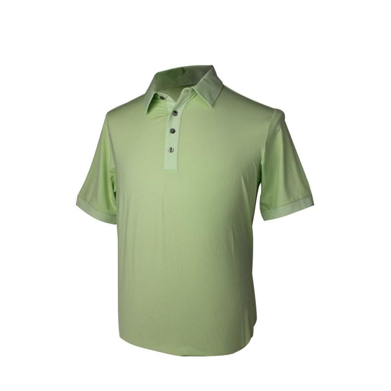 GREEN - Adidas Mens AdiPure Heather Short Sleeve Polo