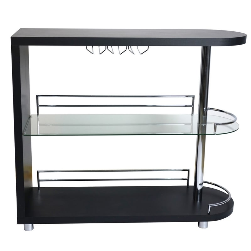 Homegear Deluxe Kitchen Bar Table - Black #2