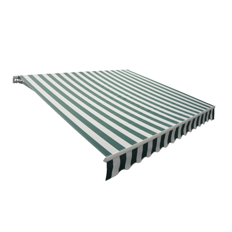 Palm Springs 2.5m Manual Patio Awning - Green / White