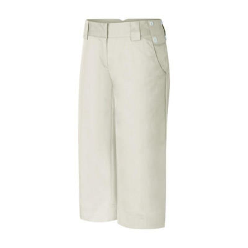 Adidas Ladies ClimaCool PinStripe Capri - Ecru Size 6