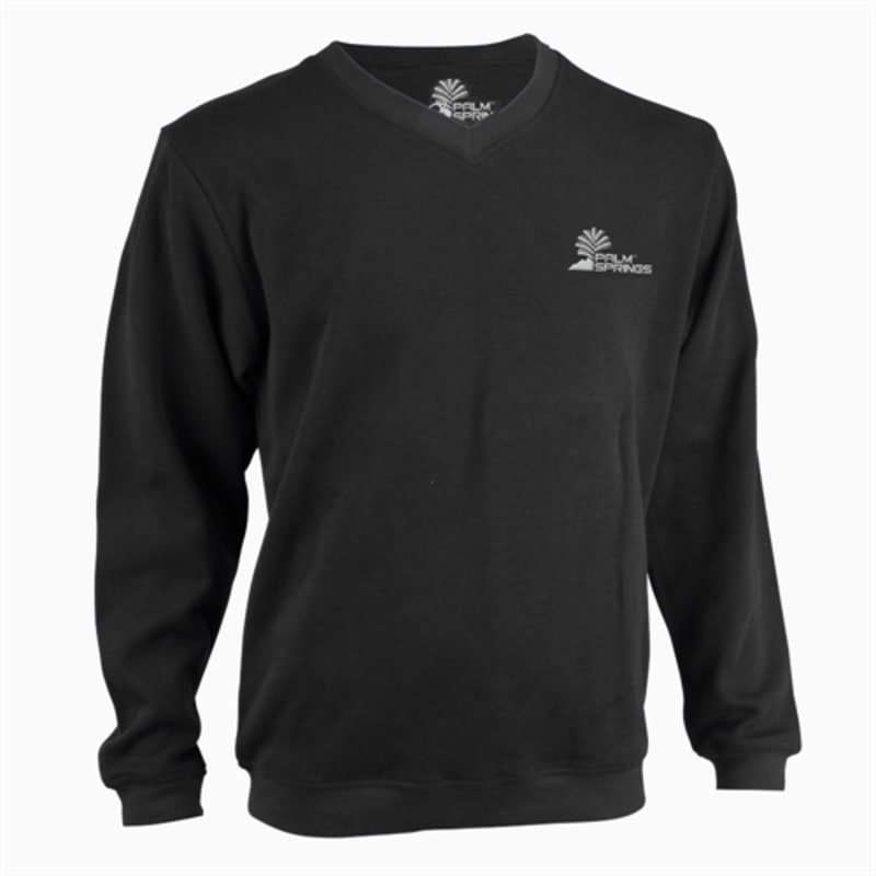 Palm Springs Long Sleeve Golf Sweater - Black