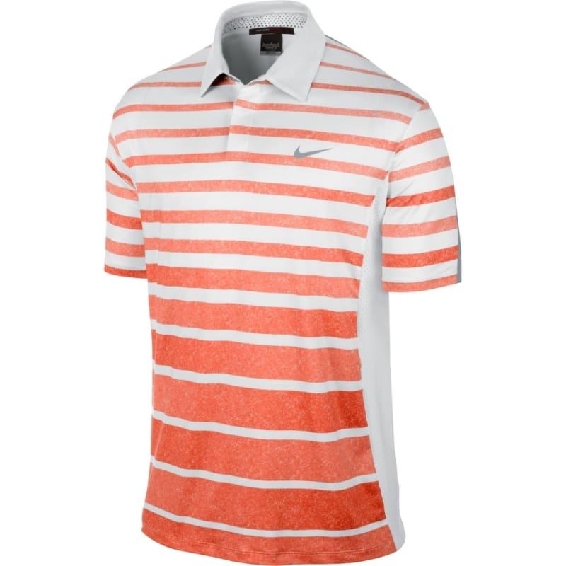 Nike Golf Tiger Woods TW Stripe Polo - White / Orange