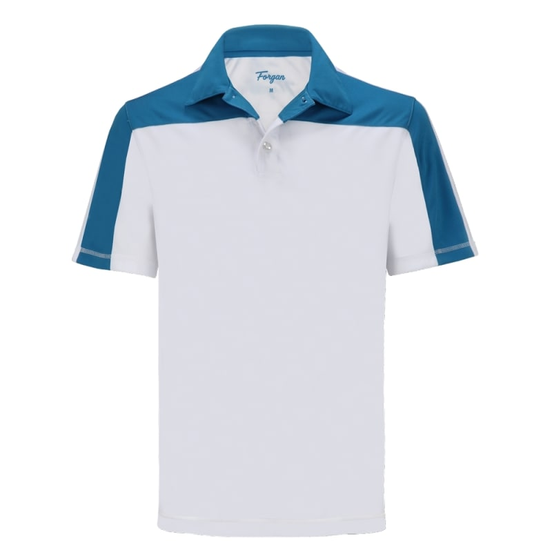 Forgan of St Andrews Block Panel Premium Golf Polo Shirts 3 Pack - Mens #